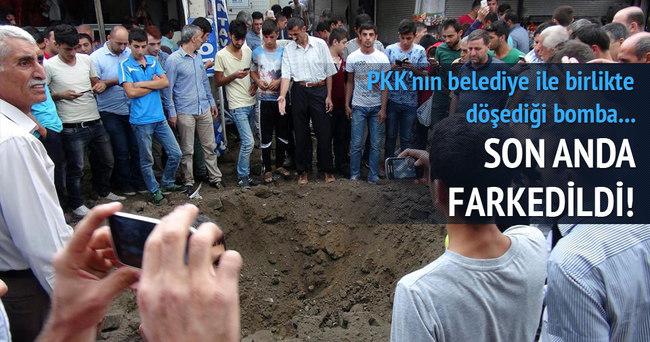 Cizre'de PKK'nın döşediği bomba son anda bulundu!