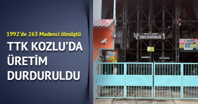 TTK Kozlu Müessese Müdürlüğü'nde üretim durduruldu