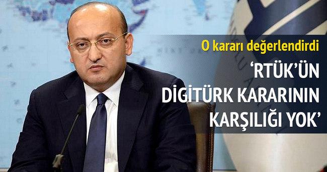 Akdoğan: RTÜK'ün Digitürk kararının karşılığı yok