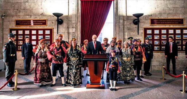 Başkentin 92'nci yaşına sade tören