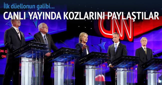 İlk düellonun galibi Clinton oldu
