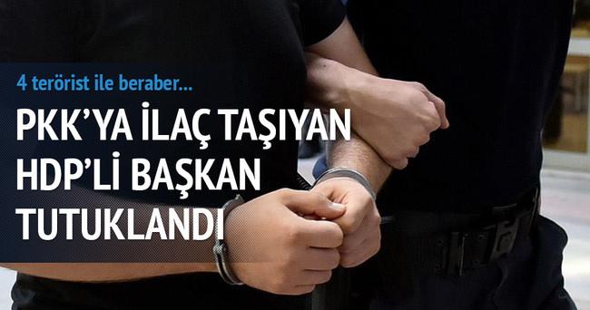 PKK'ya ilaç taşıyan HDP ilçe başkanı ve 4 terörist tutuklandı