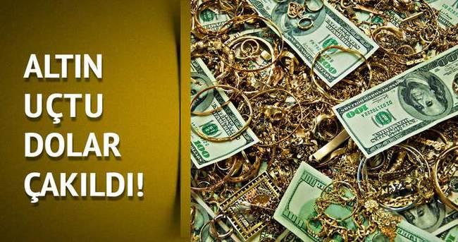 Altın uçtu, dolar çakıldı