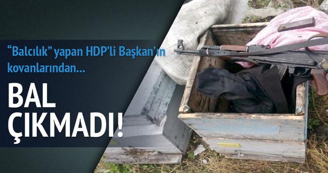 HDP'li Başkan'ın kovanlarında bal çıkmadı!