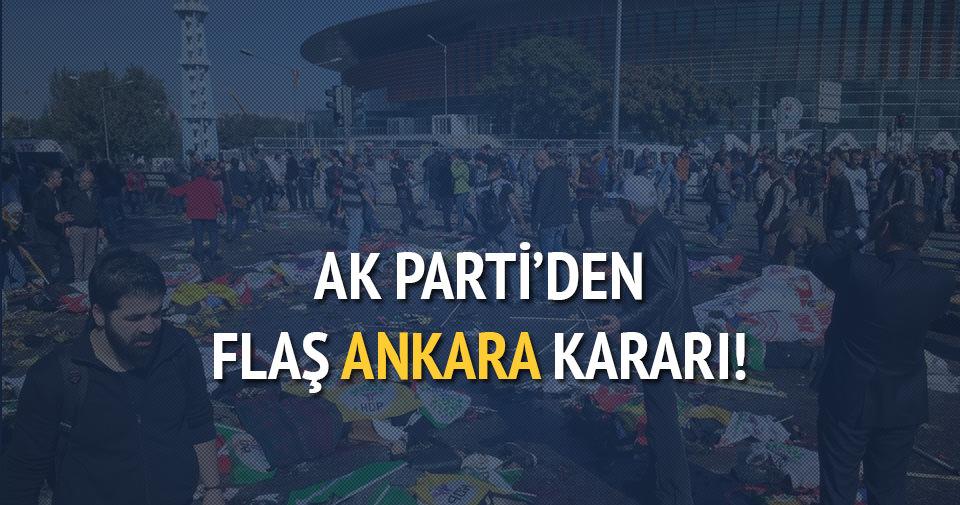 AK Parti Ankara mitingini erteledi