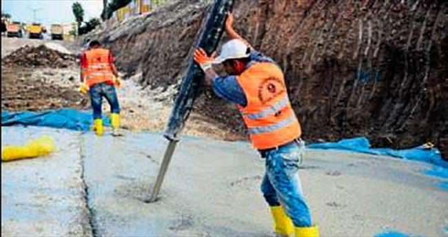 Tulumba projesinde beton dökülüyor