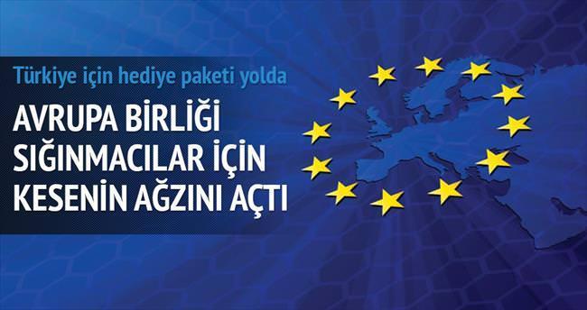 AB'den sığınmacılar için Türkiye'ye hediye