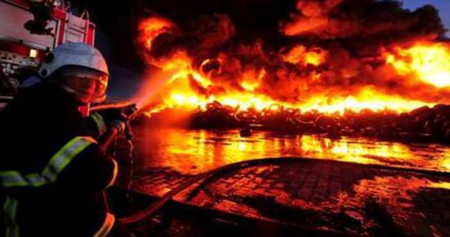 Uşak'ta büyük yangın