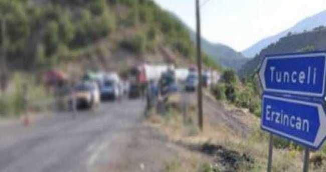 Tunceli - Erzincan Karayolu trafiğe kapatıldı