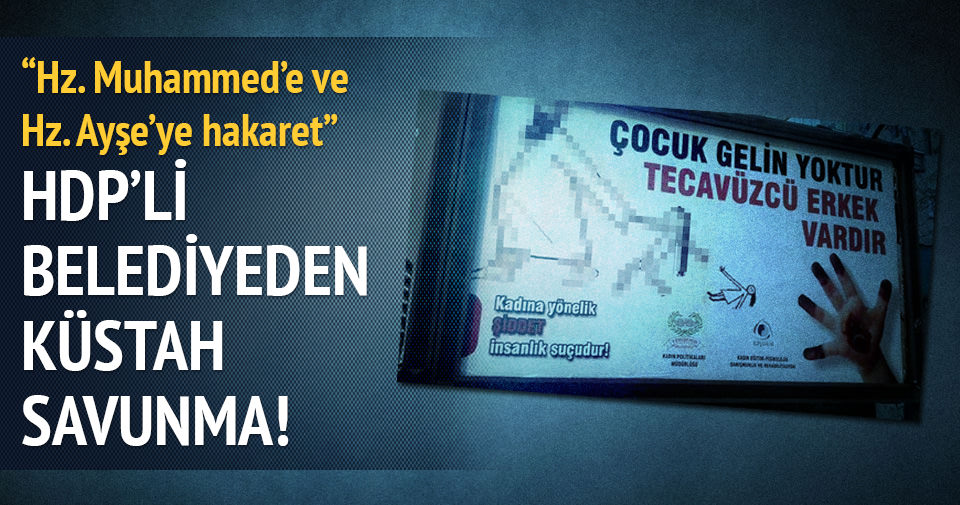 HDP'li belediyeden küstah savunma!