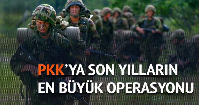 Tunceli'de PKK'ya son yılların en büyük operasyonu
