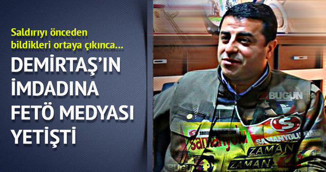 Demirtaş'ın imdadına FETÖ medyası yetişti