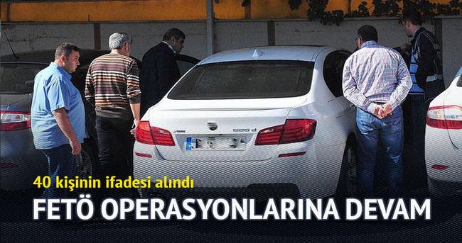 Uşak'taki FETÖ operasyonunda 40 kişinin ifadesine başvuruldu