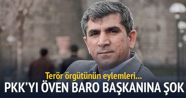 PKK'yı öven Baro Başkanı'na şok