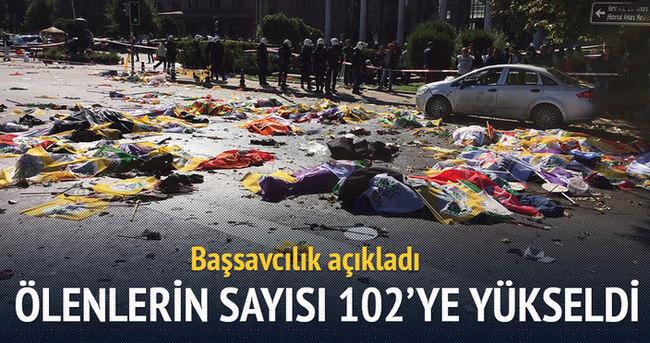 Ankara'daki patlamada ölenlerin sayısı 102'ye yükseldi