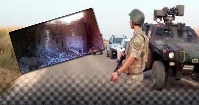 Ceylanpınar'da köprü menfezine yerleştirilmiş bomba bulundu