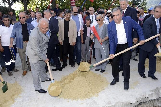 Çamlıyayla'da Kanalizasyon İnşaatının Temeli Atıldı