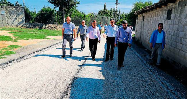 Yüreğir'in köy yolları yenileniyor