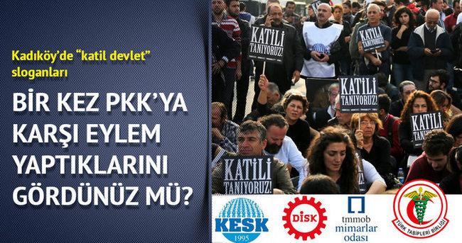 Bir kez  PKK'ya karşı eylem yaptıklarını gördünüz mü?
