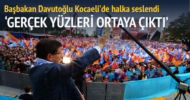 Başbakan Davutoğlu: Gerçek yüzleri ortaya çıktı