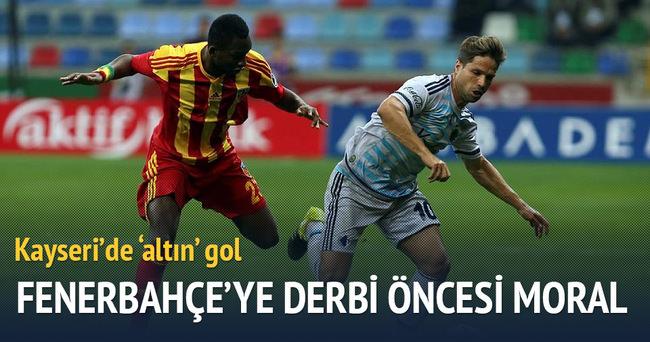 Fenerbahçe'ye derbi öncesi Kayseri morali