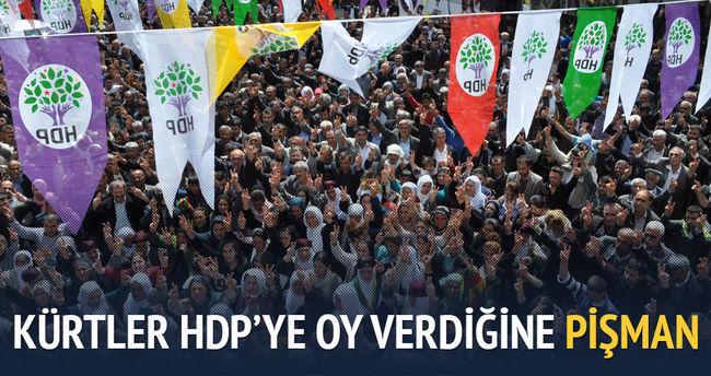 Kürtler HDP'ye oy verdiğine pişman