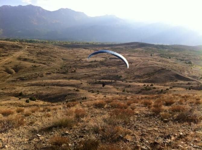 Seydişehir'de Yamaç Paraşütü Denemesi Başarılı Oldu