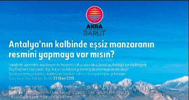 Akra Barut Otel'de resim yarışması