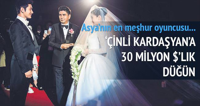 'Çinli Kardaşyan'a 30 milyon $'lık düğün