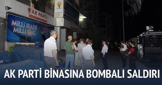 Diyarbakır'da AK Parti Başkanlığı'na bombalı saldırı
