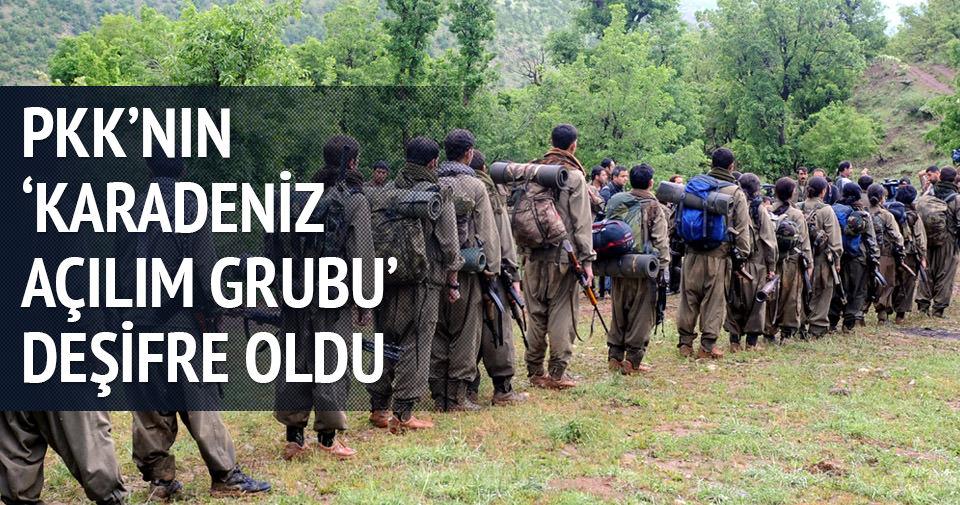 PKK'nın 'Karadeniz Açılım Grubu' deşifre oldu