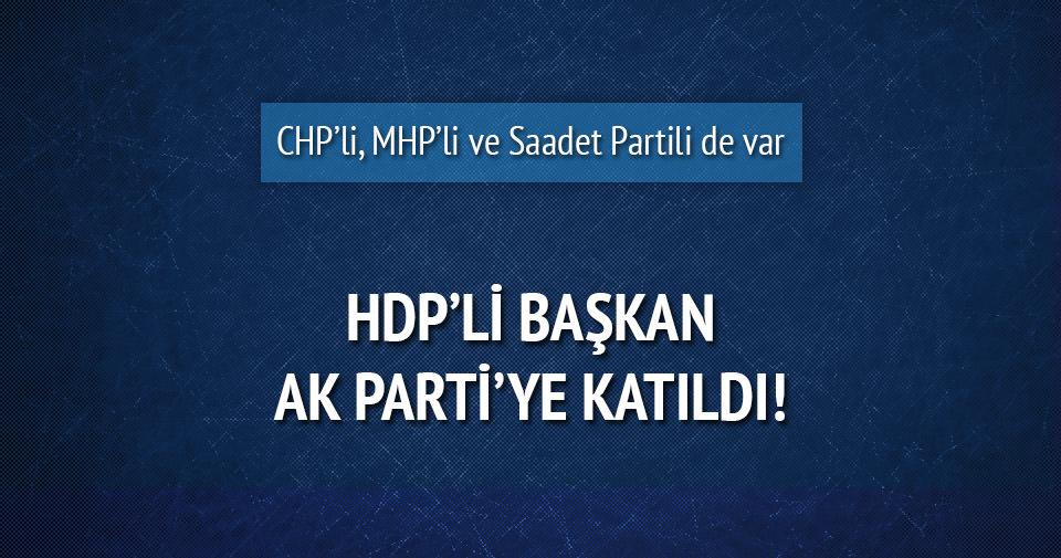 HDP'li başkan AK Parti'ye katıldı