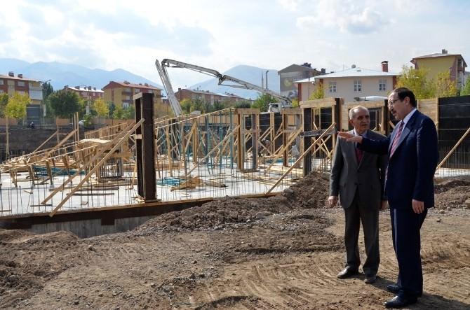 Palandöken Belediye Hizmet Binası İnşaatı Hızla Yükseliyor