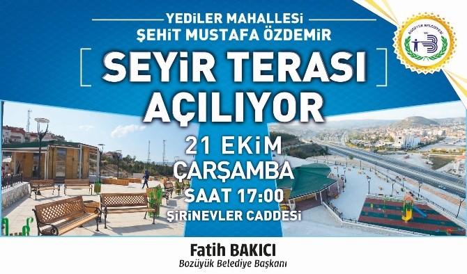 Şehit Mustafa Özdemir Seyir Terası Hizmete Giriyor