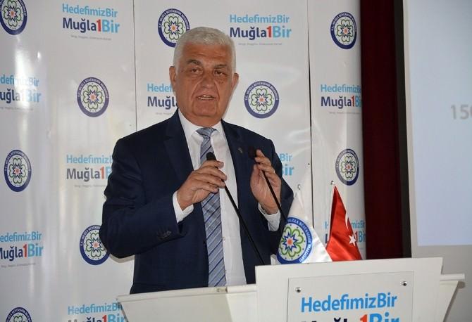 Büyükşehir Ortaca'da Bilgilendirme Toplantısı Düzenledi