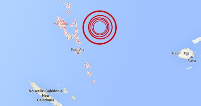 Güney Pasifik'te 7,3 büyüklüğünde deprem