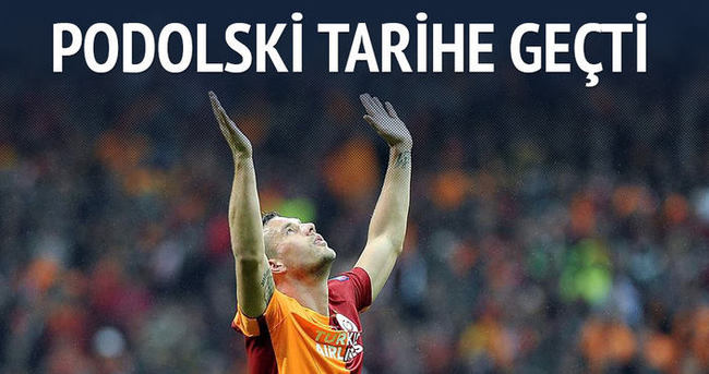 Lukas Podolski tarihe geçti
