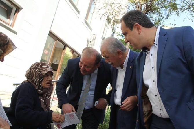 Belediye Başkanı Kerim Aksu Partisinin Seçim Çalışmalarına Destek Verdi