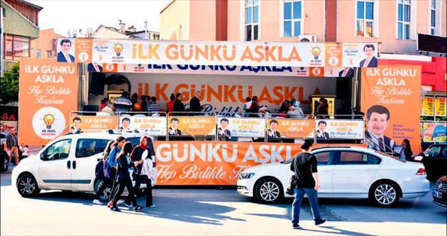 AK Parti'nin seçim TIR'ı Keçiören'de görücüde