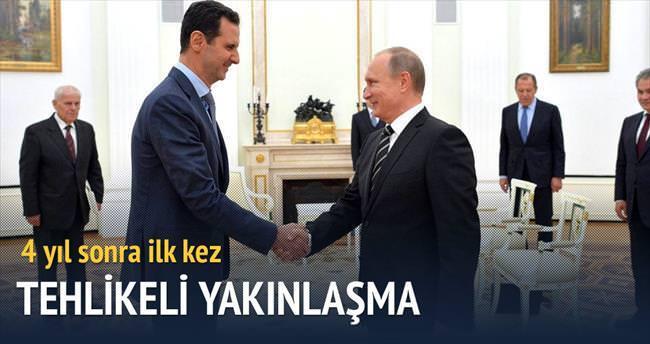 Putin davet etti Esad Rusya'ya gitti