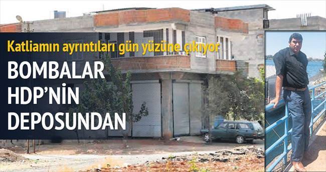 Katliamın bombaları HDP'linin deposundan