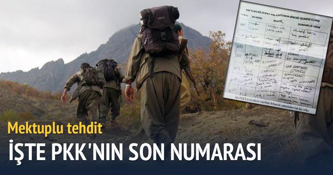 PKK'dan mektuplu 1 Kasım tehdidi
