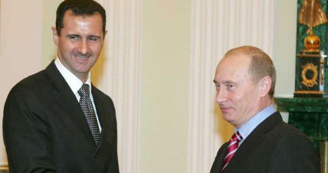 Esad'ın uçağı Putin'e böyle gitmiş