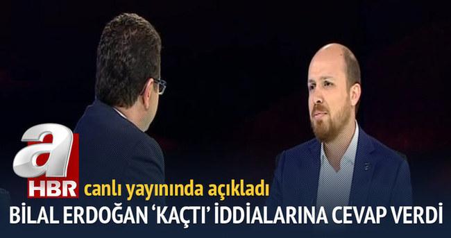 Bilal Erdoğan 'kaçtı' iddialarına cevap verdi