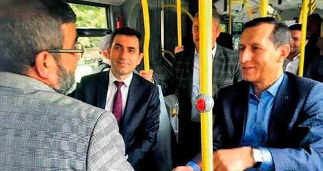EGO otobüsünde halkla muhabbet