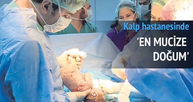 Kalp hastanesinde 'en mucize doğum'