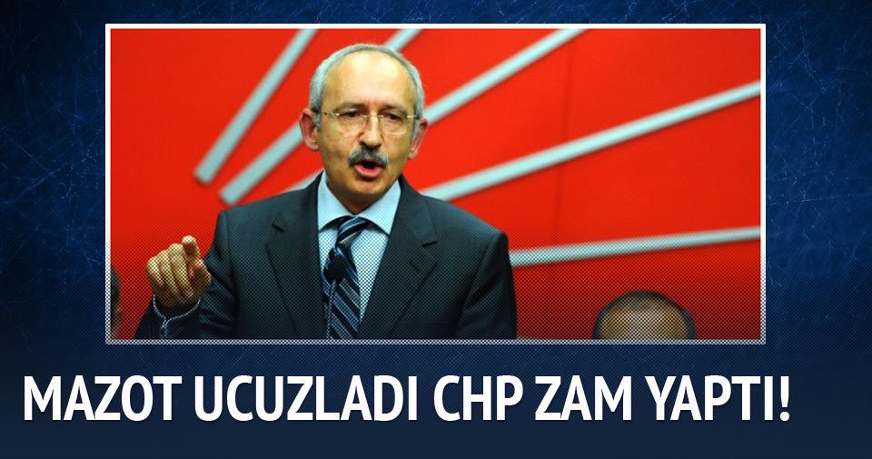 Mazot ucuzladı CHP zam yaptı