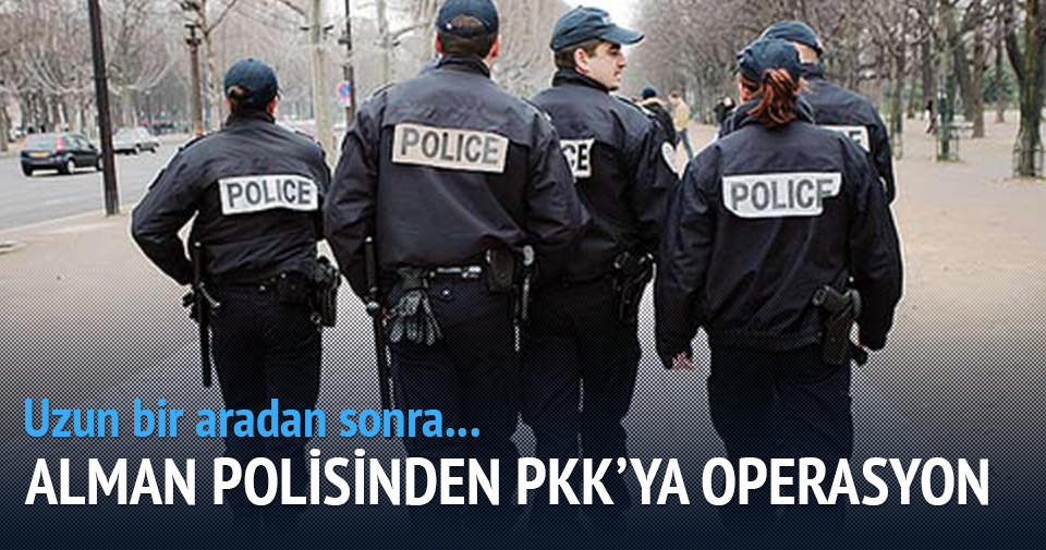 Alman polisinden PKK'ya operasyon