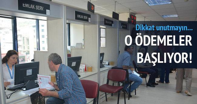 Emlak vergisinin 2. taksit ödemeleri başladı!