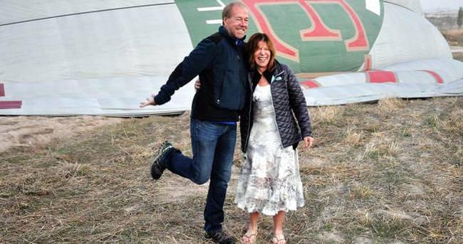 Balonda evlilik hayalleri gerçek oldu